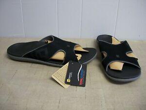 Spenco-Kholo-Men-039-s-Orthotic-Slide-Sandals-Carbon-Black-amp-Pewter-Gray-Size-12-NWT