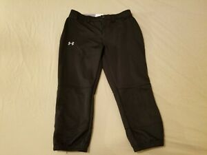Womens-Under-Armour-Pants-S-Small-Black-Athletic-Gym-Workout-Capri-26x20