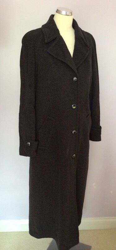 JACQUES green DARK GREY WOOL & CASHMERE LONG COAT SIZE SIZE SIZE 12 a73e4c