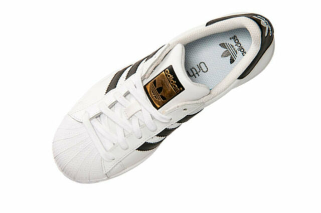 Adidas Superstar J C77154 G Bianco Oro Nero Ci C77154 J 7 Ebay f408ec