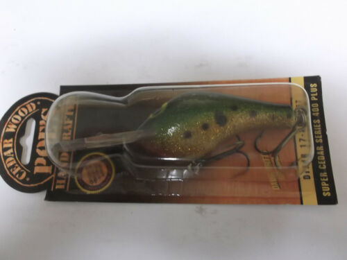 Older Poe/'s Super Cedar Wood Crankbait 400P ,#400P 78,Glitter Perch,Rattle Plus