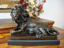Figur Panther Eisen Löwe Tiger Puma Jaguar Statue Skulptur Bronze Türstopper NEU