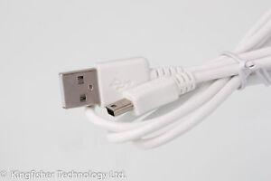 90 cm cargador de datos USB cable Blanco para agosto DP150A Digital Foto marco Llavero