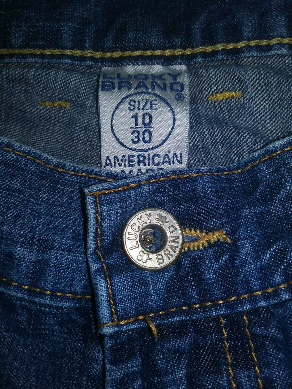 Women's Lucky Brand Dungarees Y2K Wide Leg Denim … - image 4