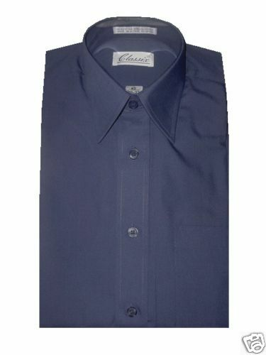CLASSIX Herren DRESS SHIRT FRENCH Blau S 14 - 14.5 36 37