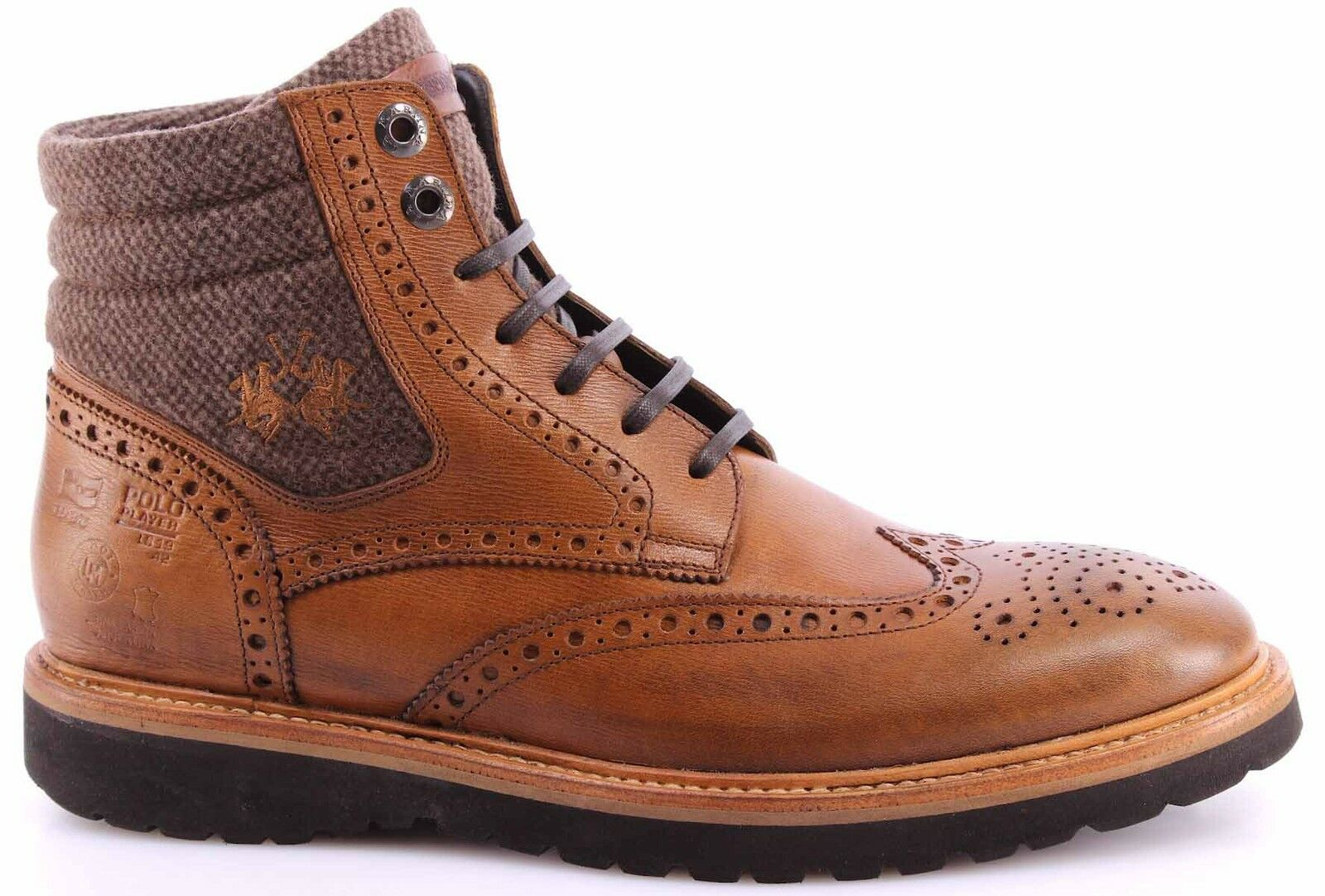Scarpe Stivaletto Ankle Boots Uomo LA MARTINA L9020116 Franz Timber Tex Sherwood