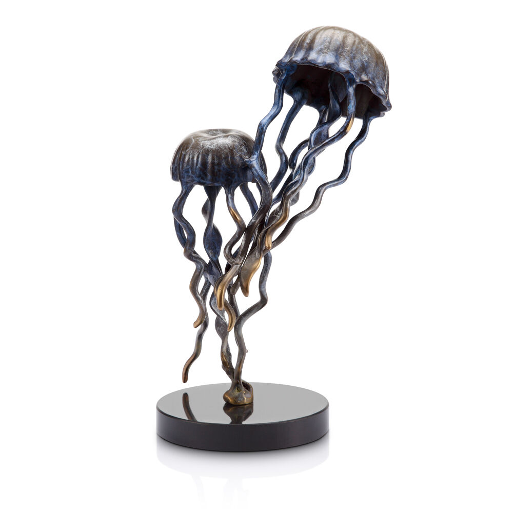 Jellyfish Pair Pair Pair Statue on Base by SPI Home 80274 c94e8c