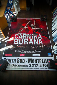 CARMINA BURANA 4x6 ft Shelter Original Music Concert Art Advertising Poster 2017