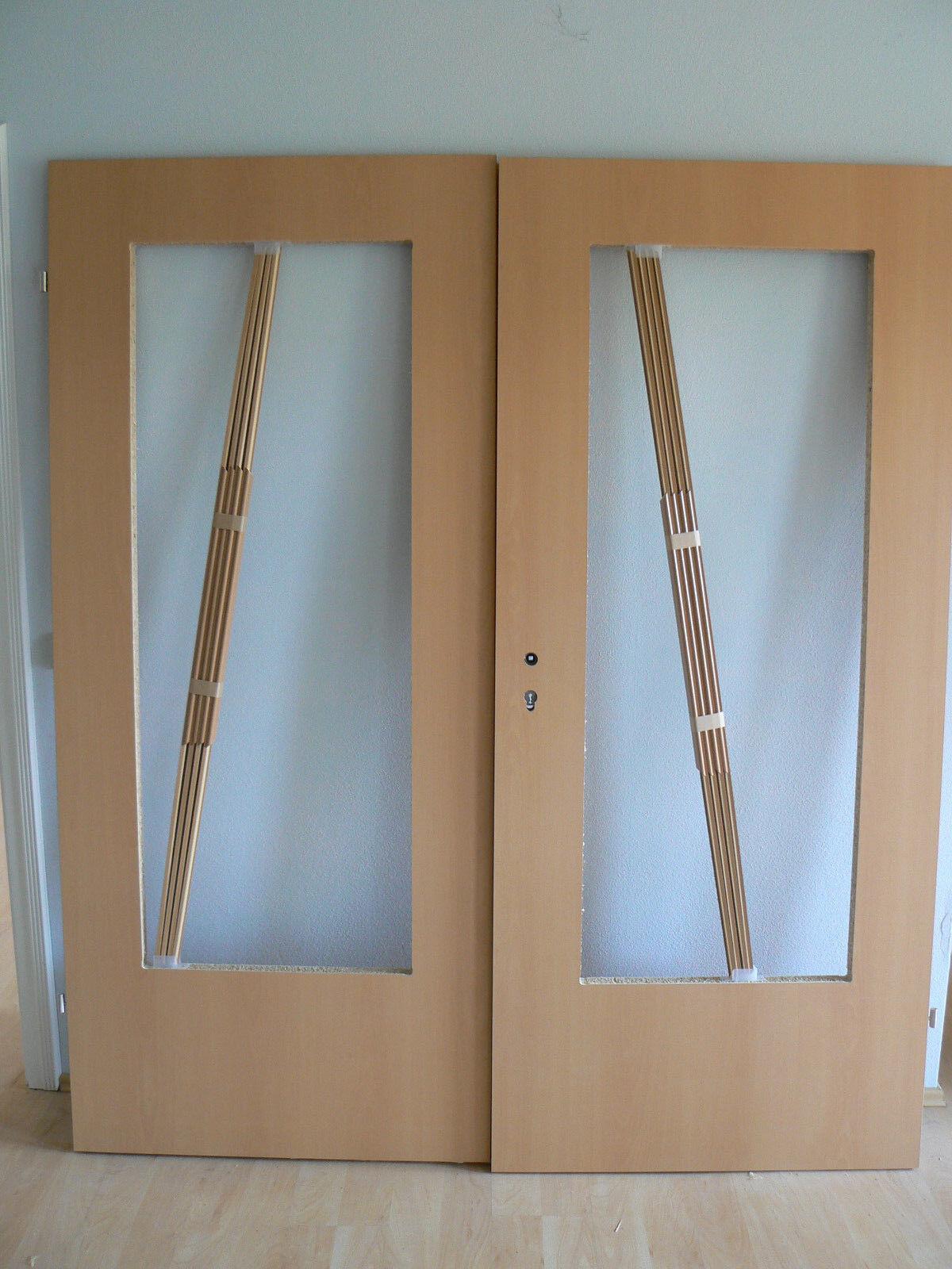 Innentür Zimmertür Doppeltür 2-flügelig 2-flg. Buche Dekor Ausschnitt 86,0 RE