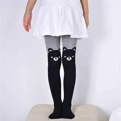Hot Toddler Kid Girl Baby Cotton Pants Stretch Warm Leggings Lined Tight Trouser