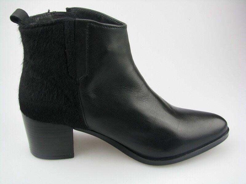 Daniel Hechter HJ5830-16F Damen  Schuhe Stiefelette in schwarz Leder/fell  Gr.42