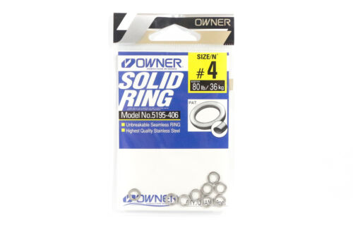9 rings 8568 Owner 5195 Solid Ring Heavy Duty Size 4.0 80lb