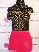Solid Hot Pink W/zipper 3 Pocket Waitress Waist Apron Bar Restaurant Server