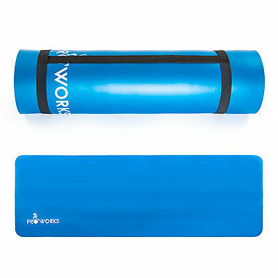 Yoga Mat for Gym Exercise Pilates Aerobics Soft Thick Non Slip Foam Roll & Strap