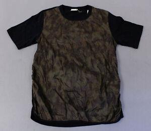 Dries-Van-Noten-Men-039-s-S-S-Quilted-Front-T-Shirt-MC7-Multi-Color-Medium-NWT
