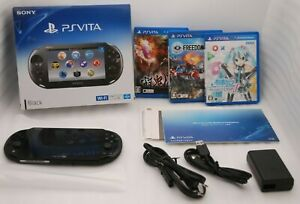 Used-PS-Vita-Console-Black-PCH-2000-Wi-Fi-w-Charger-Box-3Games-set-Japan-PSVITA