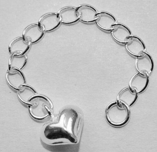 13021-5,5 cm ficticia cadenita con corazón 925-er plata