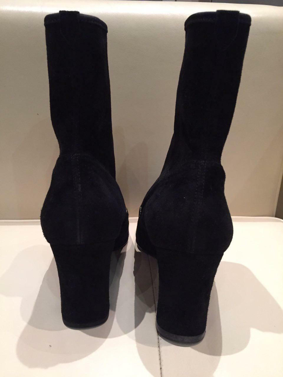 Auth Vintage New GIANNI GIANNI GIANNI VERSACE Short Ankle Boots Medusa Suede Black Size 39,5 6fa074