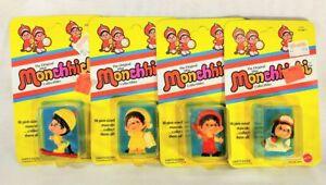 Lot-of-4-NIB-Monchhichi-Hotdog-Snuggler-Flyer-Bread-Boy-Original-Collectibles