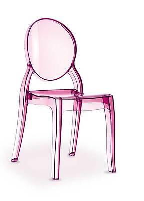 Plexiglas Acryl Ghost chair Stuhl Victoria Amber, Rot, Grau, Weiß, Schwarz, Pink
