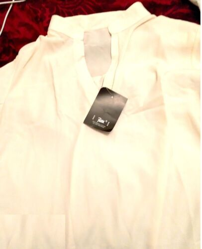 Women/'s Casual Front V Neck Cuffed Sleeves Solid Chiffon Blouse Top Shirts CS