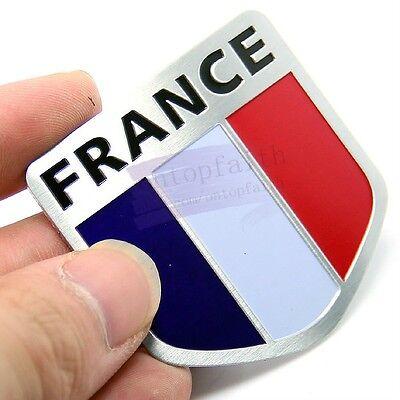 France FR Power Flag Side Rear Emblem Badge Motor Sport Decals Sticker Car
