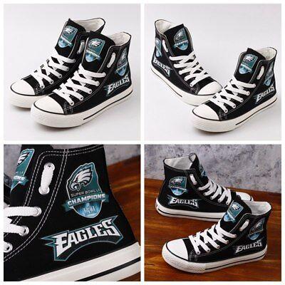 42f99537 PHILADELPHIA EAGLES Champions Womens Men's High Top Sneakers Shoes Football  NEW | eBay