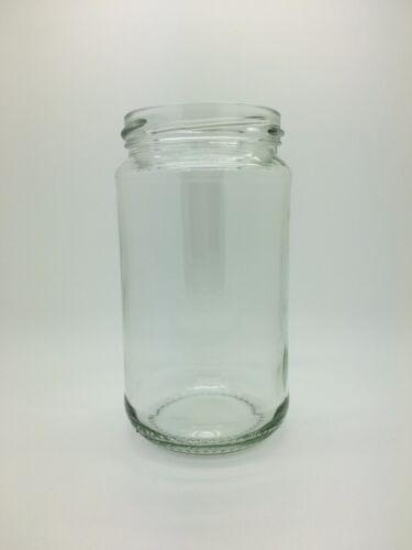 chutney jam pickled eggs Round Glass Pickle Jars 16oz choice of 70mm lids