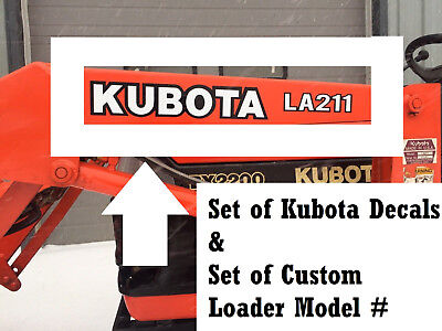 L BX B series TRACTOR DECAL set of 2 Custom Kubota Loader Sticker Model#