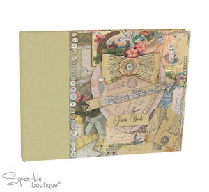 VINTAGE-STYLE-GUEST-BOOK-Wedding-Engagement-Gift-Anniversary-Hen-Party-Night