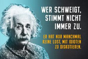Albert-Einstein-Collage-Spruch-15-Blechschild-Schild-gewoelbt-Tin-Sign-20-x-30-cm
