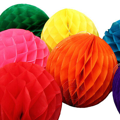 New Paper honeycomb Tissue Ball Wedding Party Birthday Home Décor Paper Pom