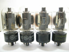 QUAD 1960-61 GE 6L6GC Beam Power Amp tubes - Gray Plates, Side [ ] [ ] Getters