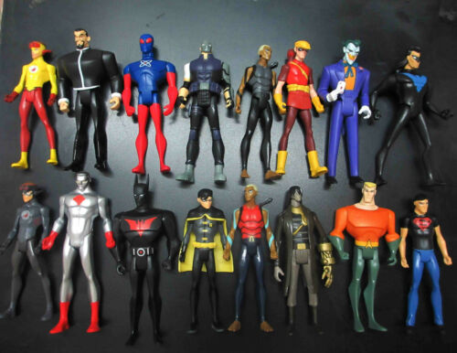 lot DC UNIVERSE YOUNG JUSTICE ARTEMIS Star Sapphire Aquaman Captain Atom batgirl