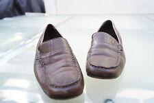 Donna Carolina Damen Schuhe Mokassins Slipper Gr.38,5 braun weiches Leder #64