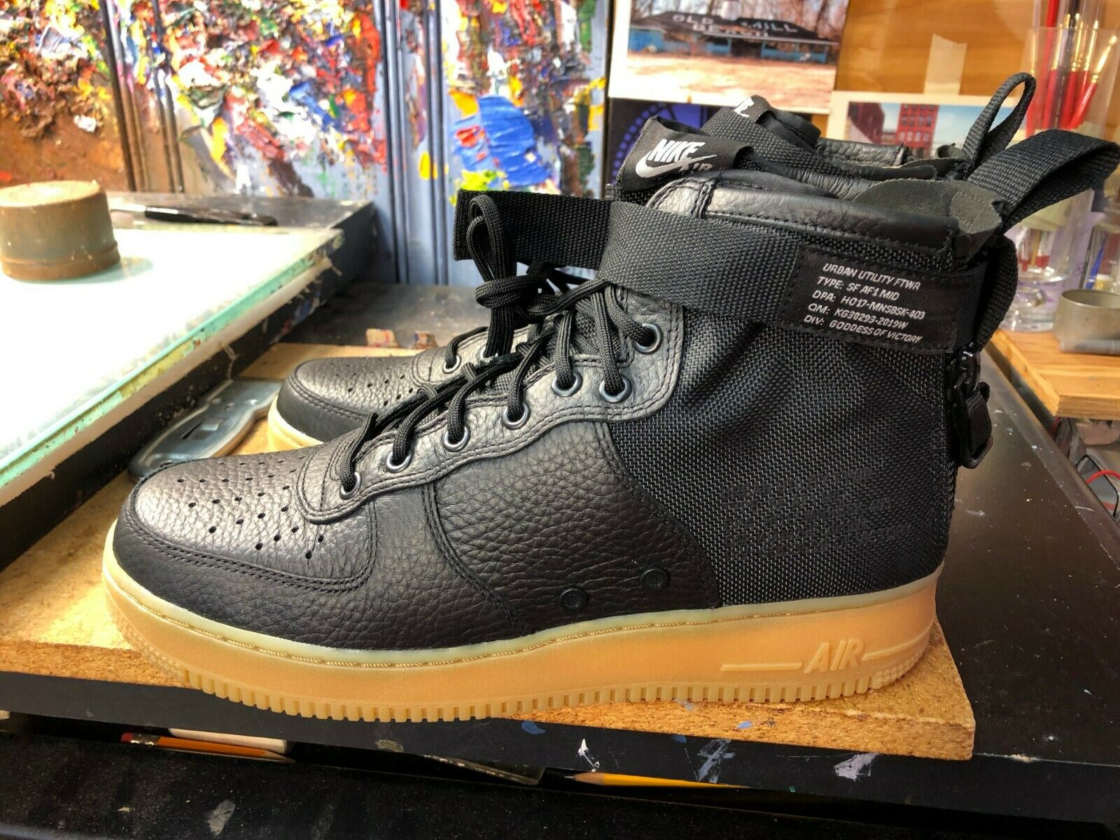 bc7965c9a1eb Nike SF AF1 Mid Black Gum Light Brown Brown Brown Size US 12 Men s 917753  003