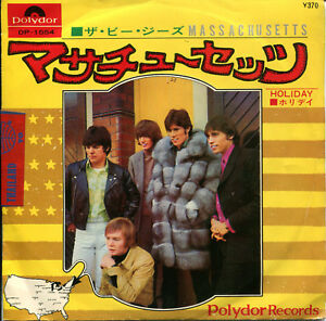 The-Bee-Gees-7-034-Massachusetts-Holiday-Japan-Polydor-DP-1554-1967