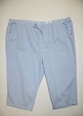 New Karen Scott Women S Plus Size 2x Blue White Seersucker Pull On