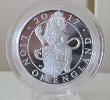 2017 il Queen's BESTIE IL LEONE D'INGHILTERRA 1 oz Argento Proof Coin Royal Nuovo di zecca
