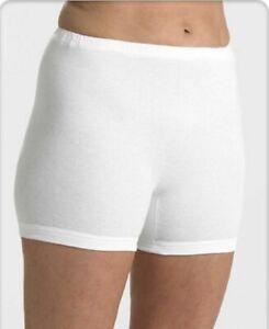 Homme Interlock 100/% Coton Deux Paires Short Blanc Slips Sous-vêtements Shorts