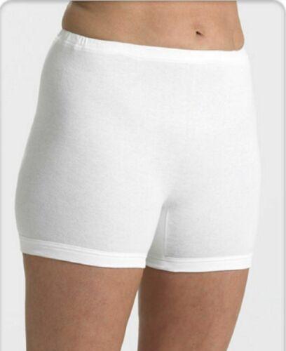 Ladies 100/% Cotton Interlock short Leg Knickers Boxers Briefs 10 12 14 16 18 20