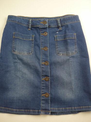 NEU 992 34 bis 40 Blue Heine Jeans Rock Stiefelrock Damen Gr