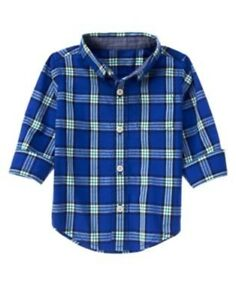 NWT Boys Gymboree Grizzly Ridge blue long sleeve shirt ~ 12-18 months
