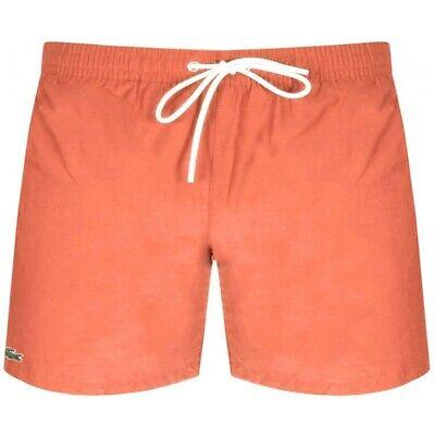 BNWT LACOSTE MH7902 Shorts de bain orange clair et Bleu XL RRP £ 60 9GU