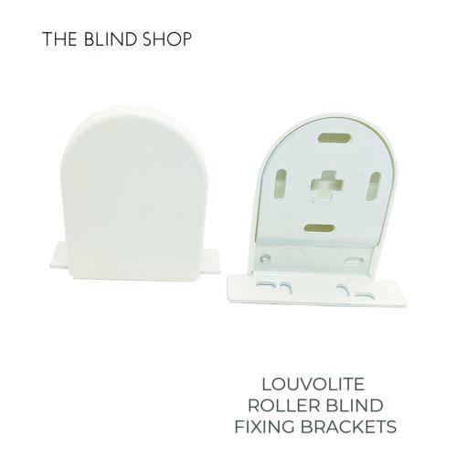 Louvolite 40mm Roller Blind Fixing Brackets Per Set For 40mm Top Tube Mechanism