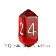 NEW Crystal Caste D4 Transparent Red Die D&D RPG Game Dice Four Sided