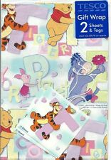 Disney Winnie the Pooh Gift Wrap Wrapping Paper Tigger Piglet Eeyore Party New