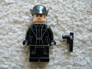Lego Star Wars Minifigure First Order General Hux with Cap 75104 Force Awakens!