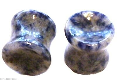 Pair of Sodalite Stone Plugs Sold As a Pair