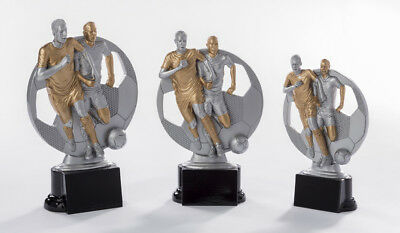 Pokal Pokale 3er-Fußballpokalserie mit Gravuren